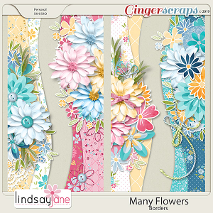 Many Flowers Borders by Lindsay Jane