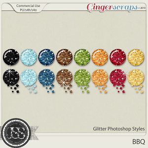 BBQ Glitter CU Photoshop Styles