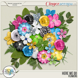 Here We Go -  Flowers - by Neia Scraps