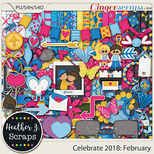 Celebrate 2018: February KIT by Heather Z Scraps