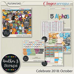 Celebrate 2018: October BUNDLE by Heather Z Scraps