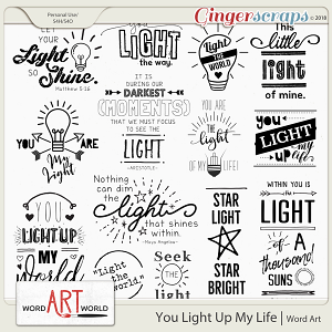 You Light Up My Life Word Art