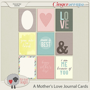 A Mother's Love Journal Cards by Luv Ewe Designs
