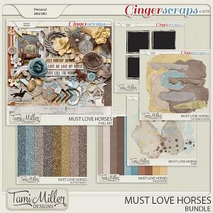 Must Love Horses Bundle by Tami Miller Designs