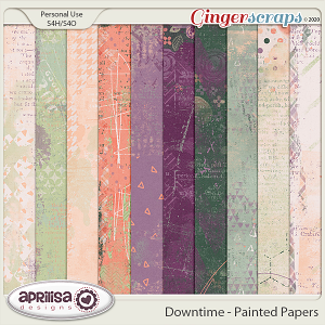 Downtime - Painted Papers by Aprilisa Designs