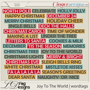 Joy To The World: Wordtags by LDragDesigns