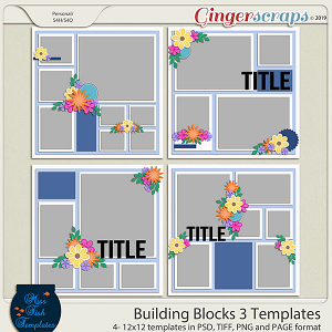 Building Blocks 3 Templates by Miss Fish