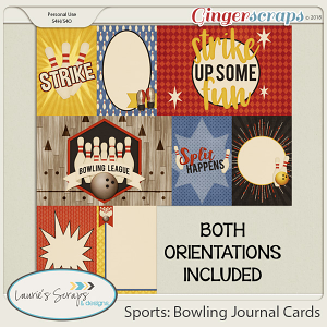 Sports: Bowling Journal Cards