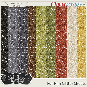 For Him Glitter Sheets