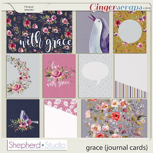 Grace Journal Cards for Pocket Scrapbooking by Shepherd Studio