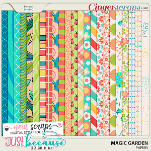 Magic Garden Papers by JB Studio and Neia Scraps