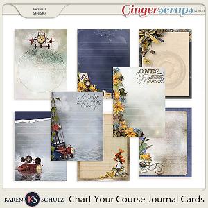 Chart Your Course Journal Cards by Snickerdoodle Designs