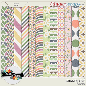 Grand Love Papers by Lisa Rosa Designs