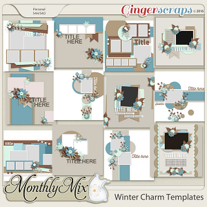 Monthly Mix: Winter Charm Template Set