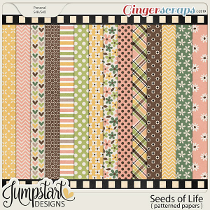 Seeds of Life {Patterned Papers} by Jumpstart Designs