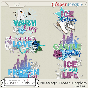 PureMagic: Frozen Kingdom - Word Art Pack by Connie Prince