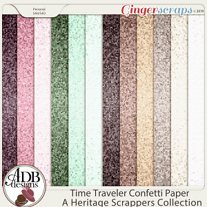 Time Traveler Confetti Paper by ADB Designs