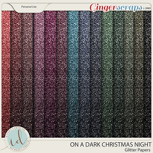 On A Dark Christmas Night Glitter Papers by Ilonka's Designs