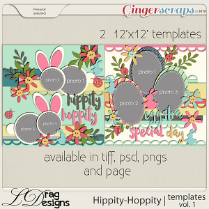 Hippity Hoppity: Templates Vol. 1 by LDragDesigns