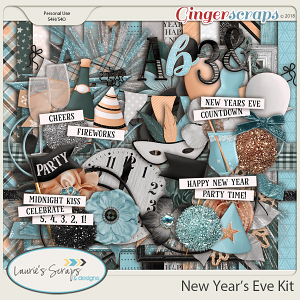 New Year's Eve Page Kit