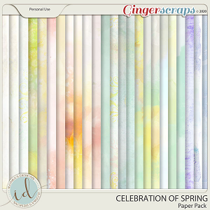 Celebration Of Spring Paper Pack by Ilonka's Designs