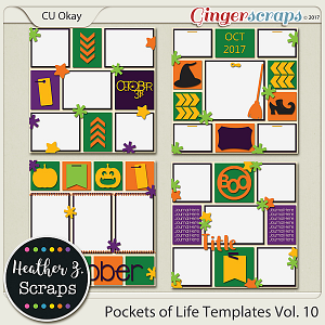 Pockets of Life TEMPLATES Vol. 10 by Heather Z Scraps
