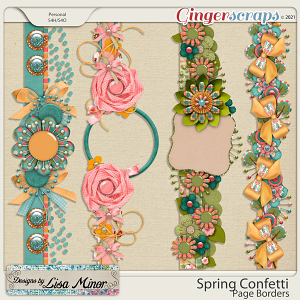 Spring Confetti Page Borders from Designs by Lisa Minor