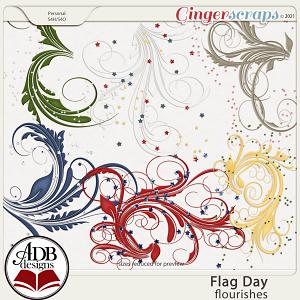 Flag Day Flourishes by ADB Designs