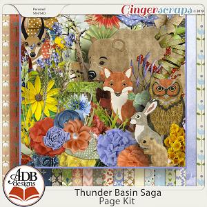 Thunder Basin Saga Page Kit by ADB Designs