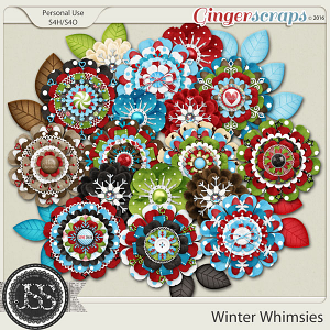 Winter Whimsies Layered Flowers