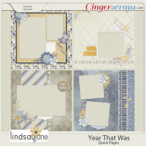 Year That Was Quick Pages by Lindsay Jane