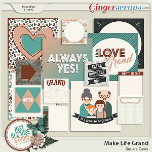 Make Life Grand Square Cards by JB Studio