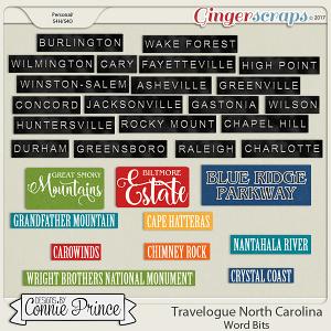 Travelogue North Carolina - Word Bits