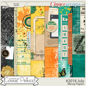 #2018 July - Messy Papers by Connie Prince