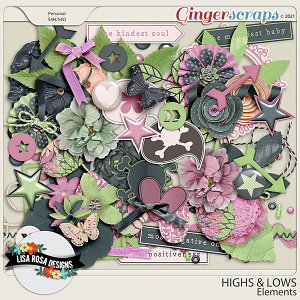Highs and Lows - Elements by Lisa Rosa Designs