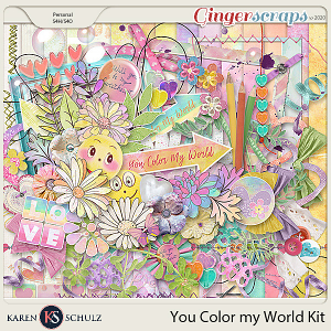 You Color My World Kit by Karen Schulz