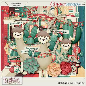Ooh La Llama Page Kit