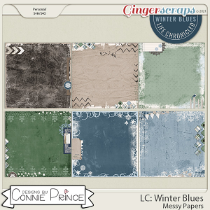 Life Chronicled: Winter Blues - Messy Papers by Connie Prince
