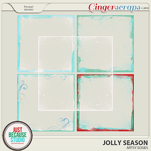 Jolly Season Artsy Edges by JB Studio