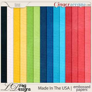 Made In The USA: Embossed Papers by LDragDesigns