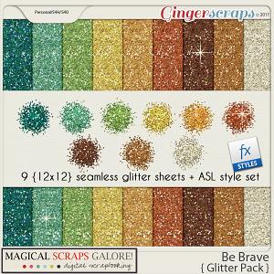 Be Brave (glitter pack)