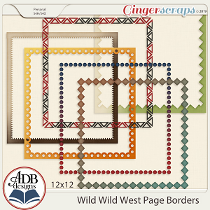 Wild Wild West Page Borders by ADB Designs
