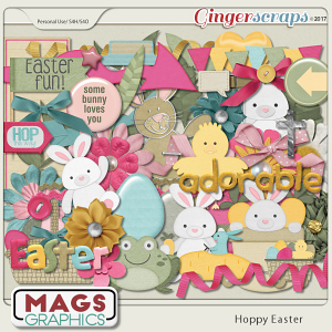 Hoppy Easter ELEMENTS Pack by MagsGraphics