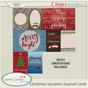 Christmas Vacation Journal Cards