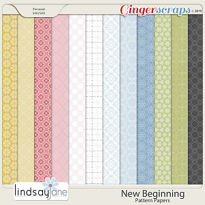 New Beginning Pattern Papers by Lindsay Jane