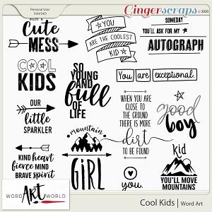 Cool Kids Word Art