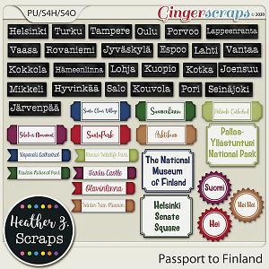 Passport to Finland WORD BITS by Heather Z Scraps