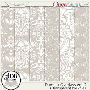 Damask Overlays Vol 02 by ADB Designs