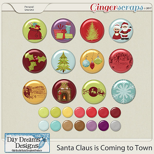 Santa Claus is Coming to Town {Flairs} by Day Dreams 'n Designs