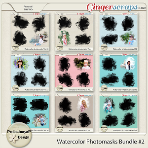 Watercolor photomasks Bundle $2